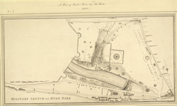 Military sketch of Hyde Park